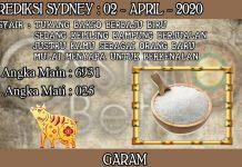 PREDIKSI TOGEL SYDNEY HARI KAMIS 02 APRIL 2020