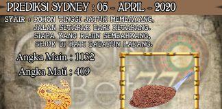 PREDIKSI TOGEL SYDNEY HARI MINGGU 05 APRIL 2020