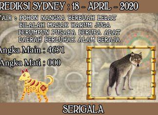 PREDIKSI TOGEL SYDNEY HARI SABTU 18 APRIL 2020