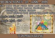 PREDIKSI TOGEL SYDNEY HARI KAMIS 23 APRIL 2020