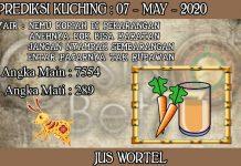 PREDIKSI TOGEL KUCHING HARI KAMIS 07 MAY 2020