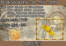 PREDIKSI TOGEL KUCHING HARI RABU 20 MAY 2020