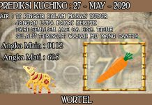 PREDIKSI TOGEL KUCHING HARI RABU 27 MAY 2020