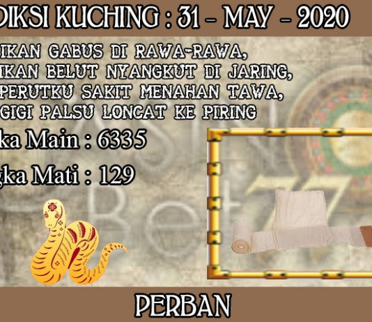 PREDIKSI TOGEL KUCHING HARI MINGGU 31 MAY 2020