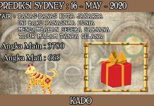 PREDIKSI TOGEL SYDNEY HARI SABTU 16 MAY 2020