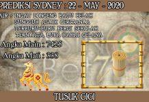 PREDIKSI TOGEL SYDNEY HARI JUMAT 22 MAY 2020