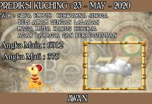PREDIKSI TOGEL KUCHING HARI SABTU 23 MAY 2020