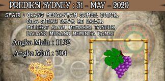 PREDIKSI TOGEL SYDNEY HARI MINGGU 31 MAY 2020