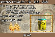PREDIKSI TOGEL PETALING HARI JUMAT 05 JUNI 2020