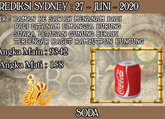 PREDIKSI TOGEL SYDNEY HARI SABTU 27 JUNI 2020