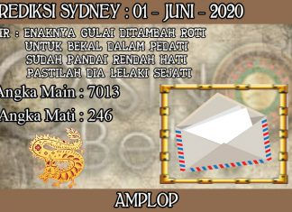 PREDIKSI TOGEL SYDNEY HARI SENIN 01 JUNI 2020