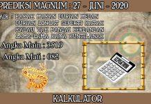 PREDIKSI TOGEL MAGNUM4D HARI SABTU 27 JUNI 2020