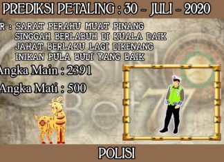 PREDIKSI TOGEL PETALING HARI KAMIS 30 JULI 2020