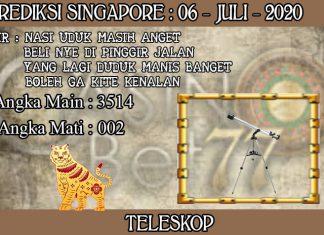 PREDIKSI TOGEL SINGAPORE HARI SENIN 06 JULI 2020