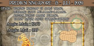 PREDIKSI TOGEL SINGAPORE HARI RABU 15 JULI 2020