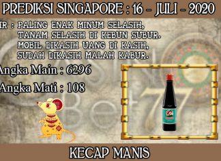 PREDIKSI TOGEL SINGAPORE HARI KAMIS 16 JULI 2020