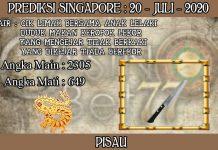 PREDIKSI TOGEL SINGAPORE HARI SENIN 20 JULI 2020