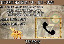 PREDIKSI TOGEL MAGNUM4D HARI RABU 01 JULI 2020
