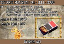 PREDIKSI TOGEL MAGNUM4D HARI SABTU 04 JULI 2020