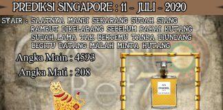 PREDIKSI TOGEL SINGAPORE HARI SABTU 11 JULI 2020