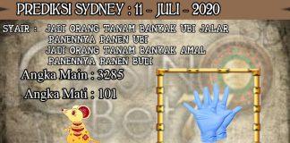 PREDIKSI TOGEL SYDNEY HARI SABTU 11 JULI 2020