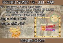 PREDIKSI TOGEL SYDNEY HARI JUMAT 31 JULI 2020