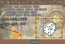PREDIKSI TOGEL MAGNUM4D HARI RABU 26 AGUSTUS 2020