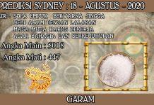 PREDIKSI TOGEL SYDNEY HARI SELASA 18 AGUSTUS 2020