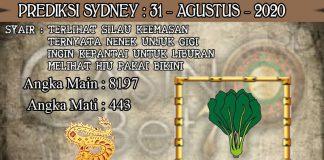 PREDIKSI TOGEL SYDNEY HARI SENIN 31 AGUSTUS 2020