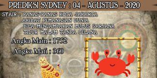 PREDIKSI TOGEL SYDNEY HARI SELASA 04 AGUSTUS 2020