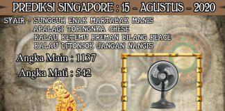 PREDIKSI TOGEL SINGAPORE HARI SABTU 15 AGUSTUS 2020