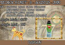 PREDIKSI TOGEL SYDNEY HARI SELASA 11 AGUSTUS 2020