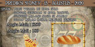 PREDIKSI TOGEL SYDNEY HARI SABTU 15 AGUSTUS 2020