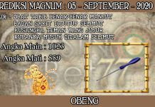 PREDIKSI TOGEL MAGNUM4D HARI SABTU 05 SEPTEMBER 2020