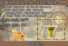 PREDIKSI TOGEL MAGNUM4D HARI RABU 16 SEPTEMBER 2020