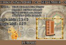 PREDIKSI TOGEL SINGAPORE HARI KAMIS 24 SEPTEMBER 2020