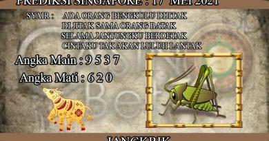 PREDIKSI TOGEL SINGAPORE HARI SENIN 17 MEI 2021