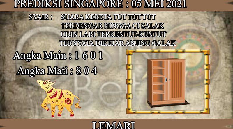 PREDIKSI TOGEL SINGAPORE HARI RABU 05 MEI 2021