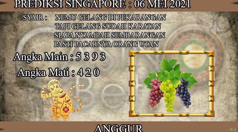 PREDIKSI TOGEL SINGAPORE HARI KAMIS 06 MEI 2021