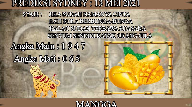 PREDIKSI TOGEL SYDNEY HARI KAMIS 13 MEI 2021