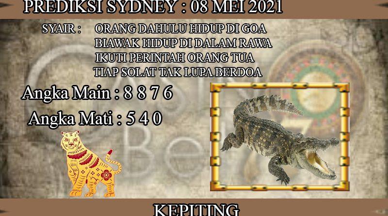 PREDIKSI TOGEL SYDNEY HARI SABTU 08 MEI 2021