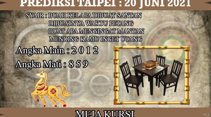 PREDIKSI TOGEL TAIPEI HARI MINGGU 20 JUNI 2021