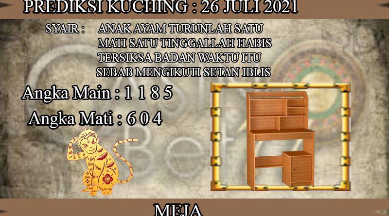 PREDIKSI TOGEL KUCHING HARI SENIN 26 JULI 2021