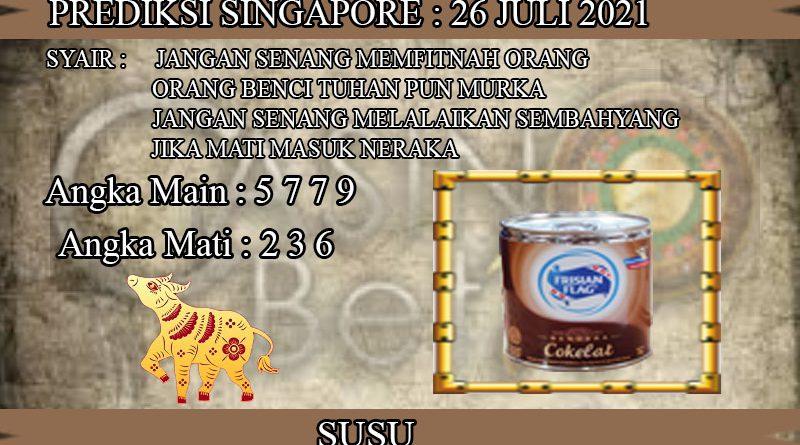 PREDIKSI TOGEL SINGAPORE HARI SENIN 26 JULI 2021