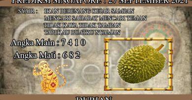 PREDIKSI TOGEL SINGAPORE HARI SENIN 27 SEPTEMBER 2021