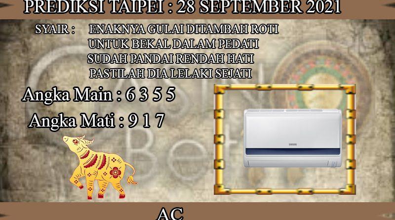 PREDIKSI TOGEL TAIPEI HARI SELASA 28 SEPTEMBER 2021